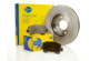 Brake pads and coated discs
