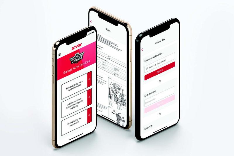KYB: Suspension solutions app