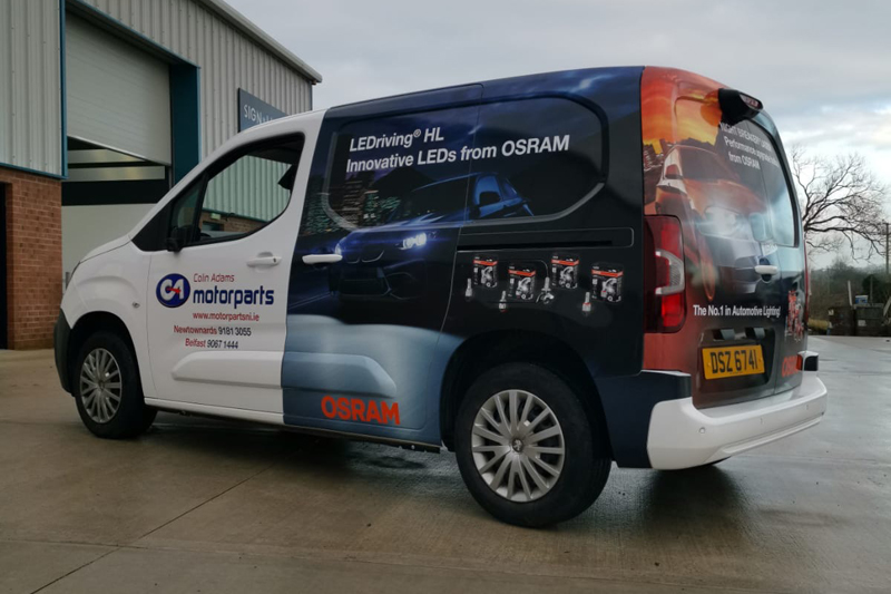 OSRAM wraps supplier's delivery vans